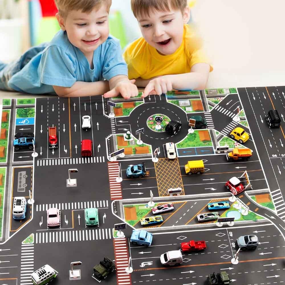 New Cars Map City Parking Lot Roadmap Toy Model Car Mats Gifts 130 X 100cm