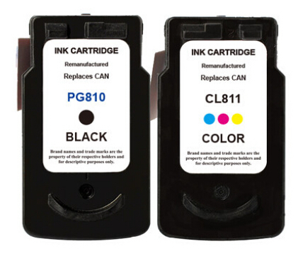 hisaint Free shipping for Canon 810 811 Ink Cartridge for Canon MP245/MP258/MP268/MP276/MP486 Ink jet Printer image
