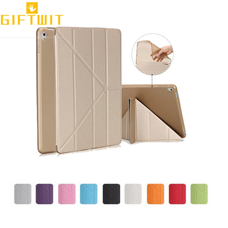 Tablet Accessories Zinghb Soft Silicone Tpu Full Body Slim Smart Stand Case Translucent Back Protector Cover For Ipad Air 2 Air2 Auto On/off Tablets & E-books Case