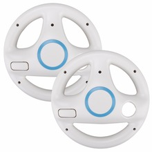 2Pcs Kart Racing Steering Wheel For Nintendo Wii Kart Games Remote Controller Console For Super Mari o Kart Game Accessories