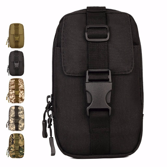 Alta Qualidade À Prova D' Água Militar Nylon Molle Saco Da Cintura Hip Bum Fanny Pack Para Homens Laço Cinto Bolsa Caso de Telefone Celular Móvel Bolsa