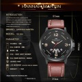 HANNAH MARTIN 2017 new design Men's Quartz Wrist watches Leather Casual Relogio Masculino Complete Calendar Clock Male Brand wat