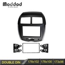 Doppio Din Car Radio Fascia per Mitsubishi ASX RVR 2012 Stereo Facia Dash CD Trim Kit di Installazione Telaio