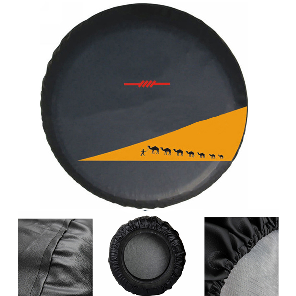 """Soft 14"""" 15"""" 16"""" Inch Heavy Duty PVC Leather Spare Tire Tyre Cover Case Protector Bag Pouch For Suzuki Grand Vitara Jimny protector case protector suzuki protector cover - title="""