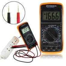 Coms ac/dc амперметр мультиметр метр жк-дисплей тестер электрический профессиональный авто цифровой