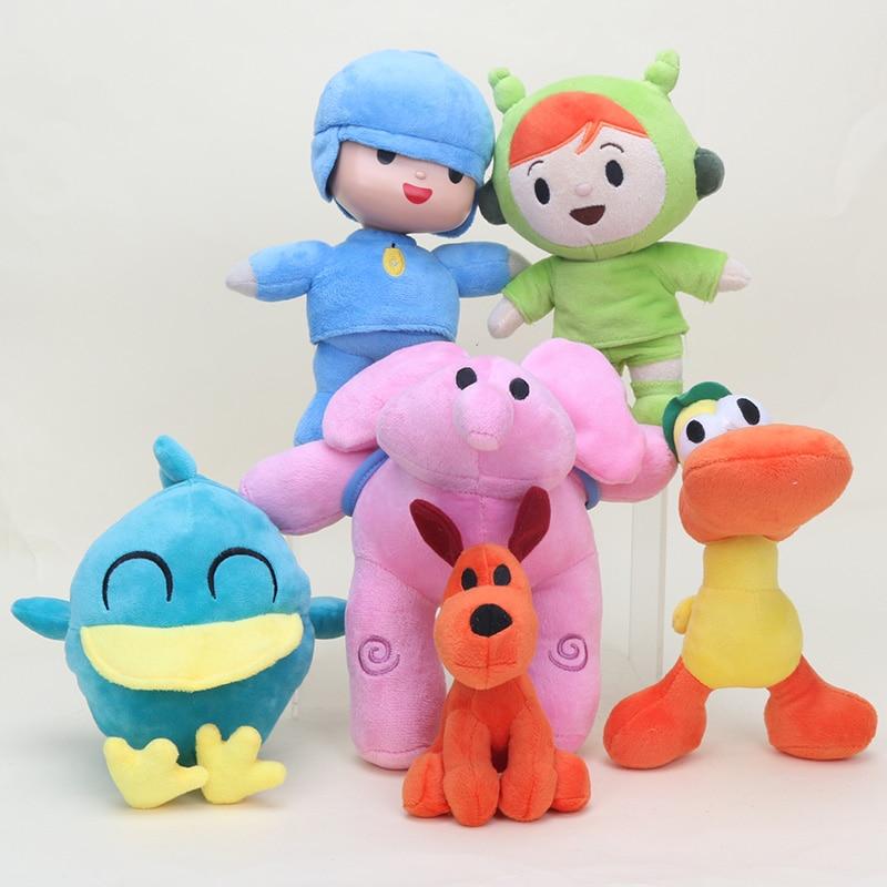 12-25cm Animals Cartoon pocoyo plush toy pocoyo Stuffed Animals Plush Toys Loula Elly Pato New Kids Gift Stuffed Cute Dolls