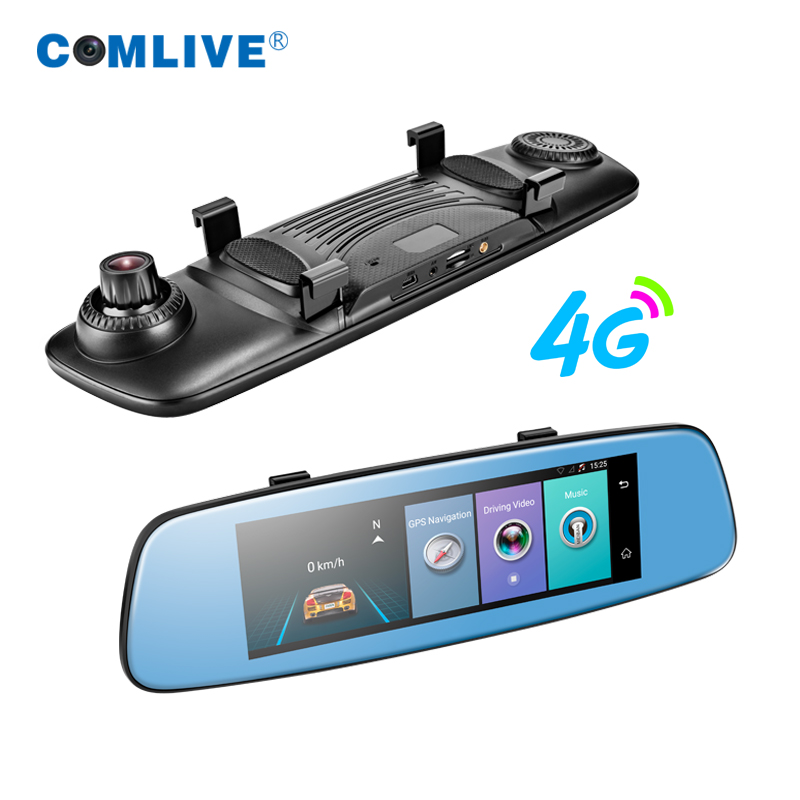 Newest 4G rearview mirror Android 5 0 GPS Navi ADAS car camera 7 84 remote