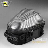 Universal Motorbike Hard Shell Seat Bag Motorcycle Tail Bags Package Back Seat Bags Fit For Yamaha Suzuki Kawasaki Et Moto