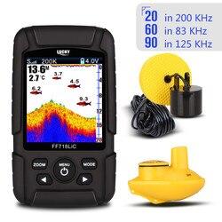 Spedizione Gratuita! FORTUNATO FF718LiCD Portable Fish Finder 200 KHz/83 KHz Dual Sonar di Frequenza 328ft/100 m Rilevamento di Profondità Finder