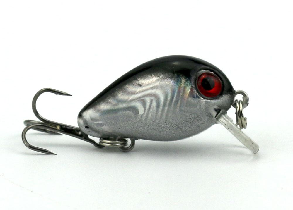 HENGJIA 100 шт. супер мини кренкбейт, рыболовные приманки, пластиковая приманка, воблеры для окуня 3 см 1,5 г Isca, искусственные рыболовные снасти, оптовая продажа 2