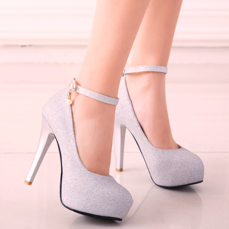 SARAIRIS Brand 2019 Sexy Big Size 45 High Heels Party Women Shoes Woman Platform Ankle-strap Date Office Lady Pumps Shoes