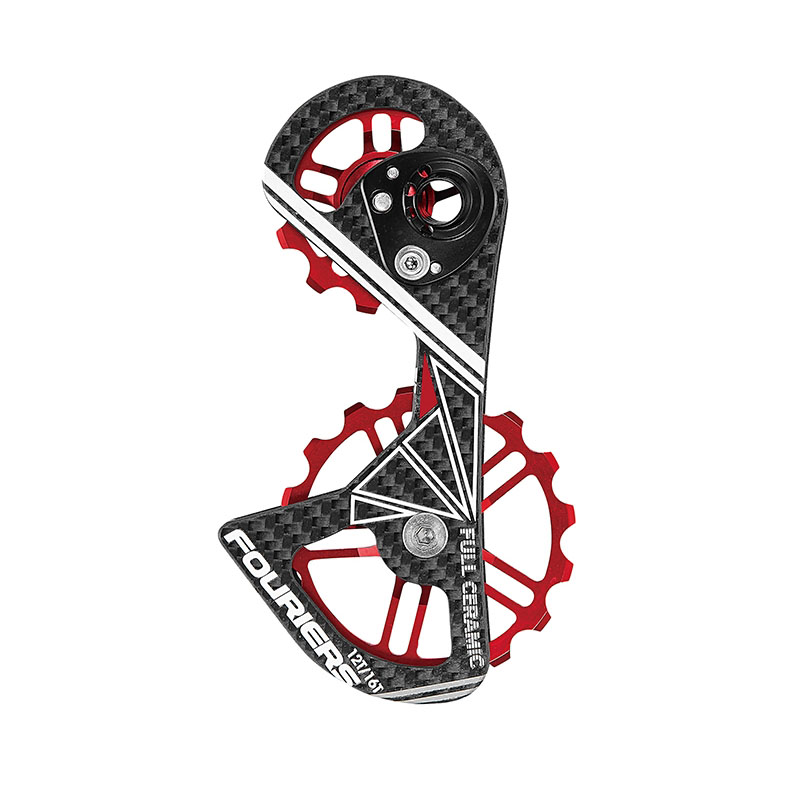 FOURIERS CT-DX007 road bicycle Oversize derailleur cage with 12t upper and 16t lower pulley  for bike RD 9000/9070/6800/6870