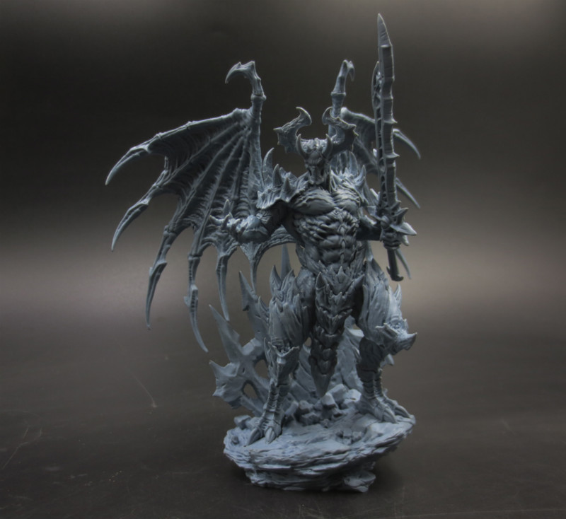 Resin Figure Model Kit Unassambled Chaos Demon Hate Lord Static Modelling Assembling DIY Toys Hobby Tool A418