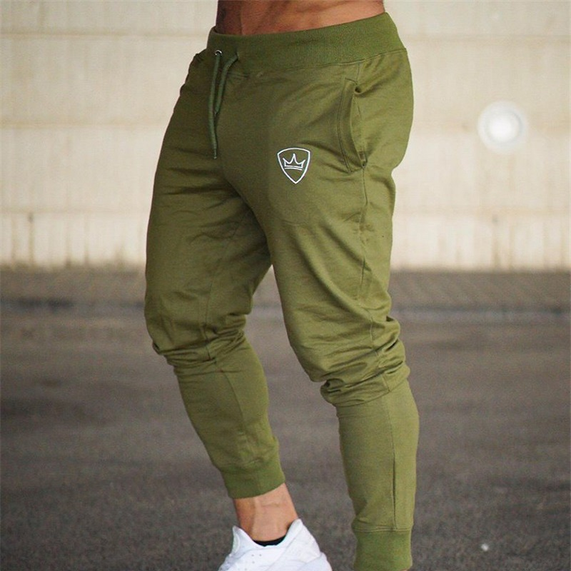 Brand 2018 New Gyms Mens Joggers Pants Cotton Casual Fitness Bodybuilding Skinny Sweatpants Joggers Track Pants Long Trousers
