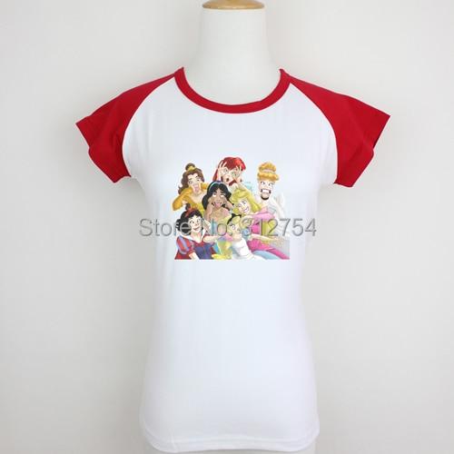 PRINCESS FUNNY COVER CINDERELLA CUTE LOVDesign Pattern Printed Short Long Sleeves T-Shirt Women's Girl's Graphic Tee Tops Tshirt