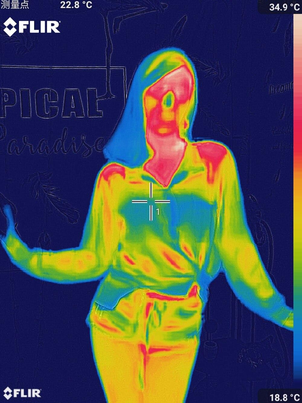 Тепловизионная камера инфракрасного изображения ночного видения FLIR ONE PRO использование для iphone ipad iOS или Android