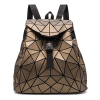 Bags For Women 2019 Geometric Backpack Women Shoulder Bag Folding Backpacks Black Student School Bags Hologram Rucksack mochila