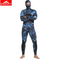 SBART 3mm Neoprene Wetsuits Camouflage Two pieces Keep Warm Diving Wetsuits Swimming Snorkeling Spearfishing Scuba Diving Suits