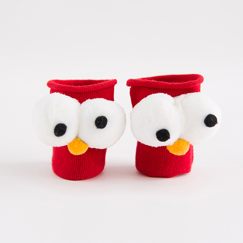 2017 New Fashion Autumn Winter Kids Cotton Socks Sesame 3D big Eyes Boys Girls Cute Short Socks Toddle Christmas Gift