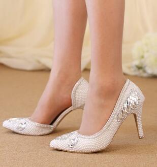 ФОТО 2017 superstar pumps shoes woman TG982 silver rhinestones 8cm heel womens shoes lady party dance dress pumps point toe