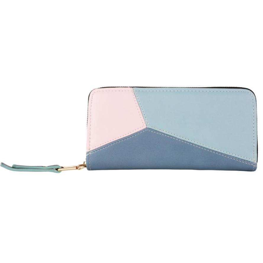 Purse Wallet Women Simple Retro Rivets Long Wallet Coin Purse Card Holders Fashion Purse Wallet Drop Shipping 2018#zer