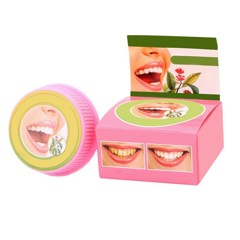 Neue 1 Pc Pflanzliche Zahnpasta Zahnpflegemittel Bleaching Zähne Entfernen Schwarz Gelb Flecken 5g Heißer Verkauf