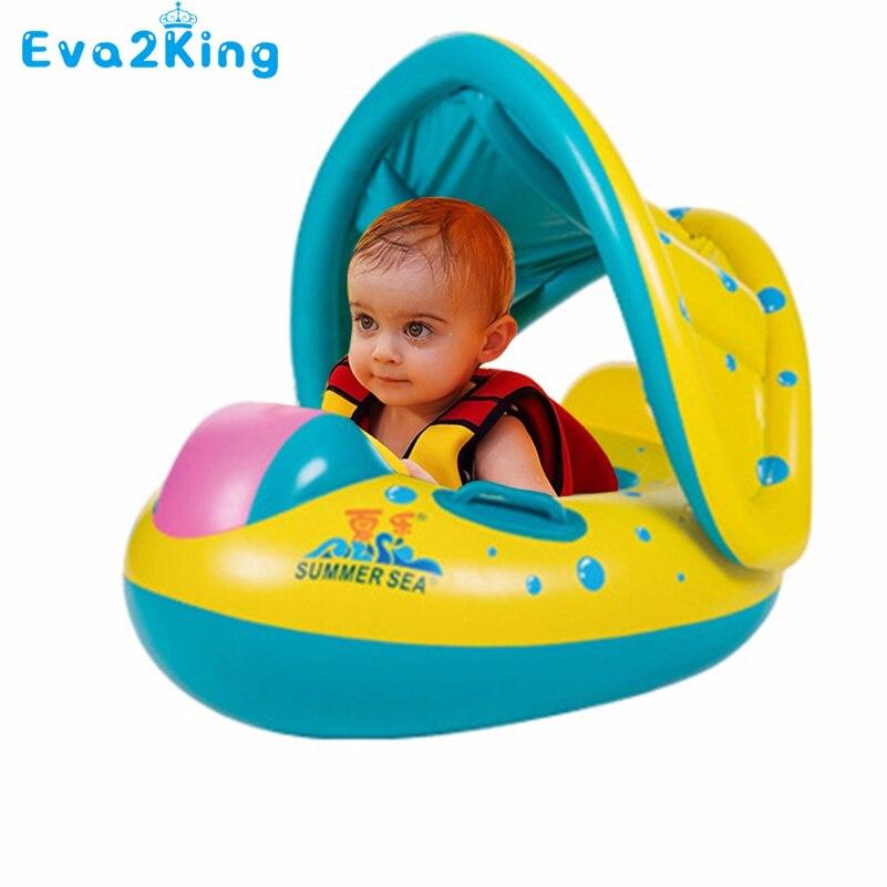 Bébé enfants anneau de natation Portable été sécurité gonflable réglable parasol flotteur siège d'eau bateau anneau natation piscine Sport nautique