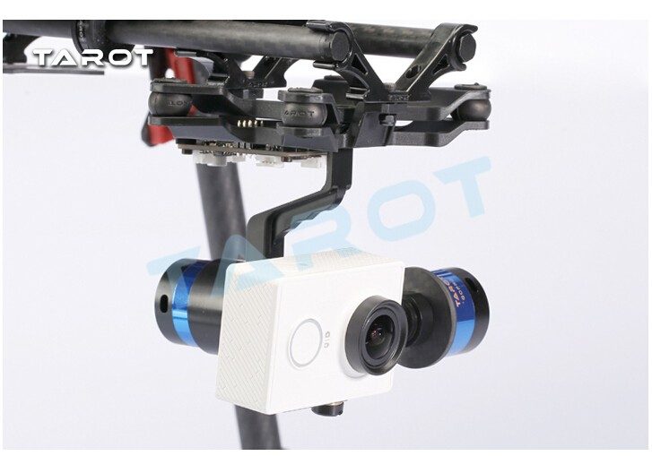 TAROT 2-Axis Brushless Gimbal Camera Mount for MIUI Xiaomi Yi Sports Camera TL68A15 2015 hot sale quadcopter 3 axis gimbal brushless ptz dys w 4108 motor evvgc controller for nex ildc camera