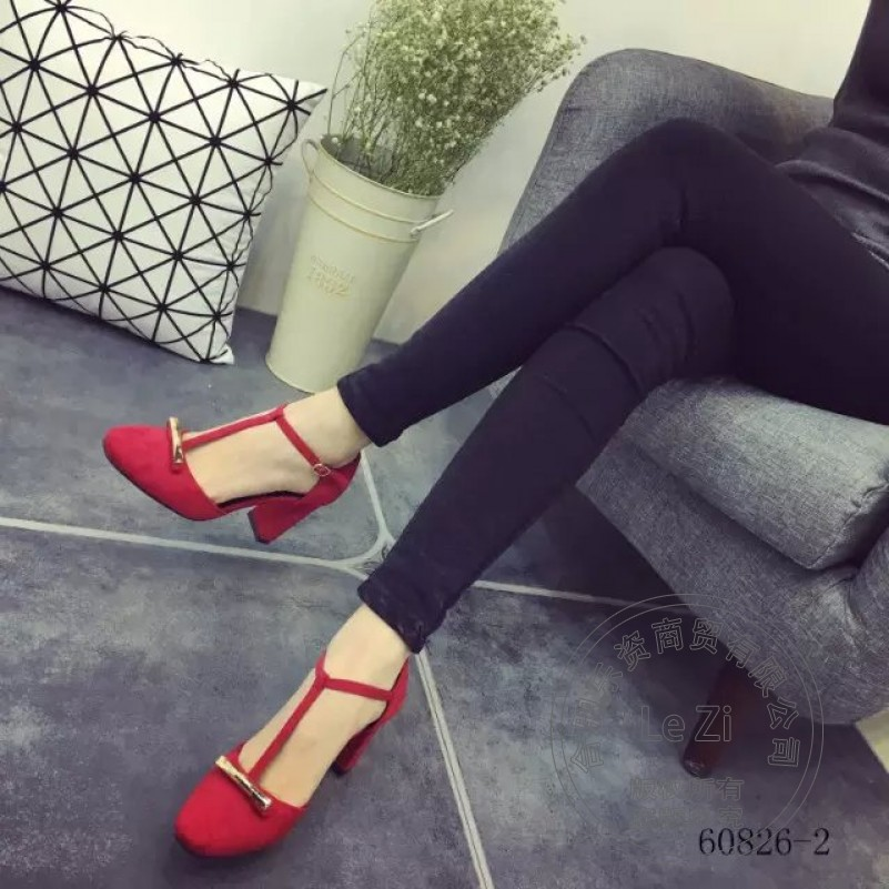 Pull On Shallow Mouth Casual High Heel Shoes Footwear Pu Round Toe font b Woman b