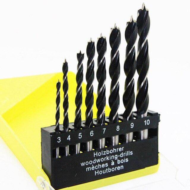 8pcs Twist Brad Point Drill Bit Set Wood Drilling Woodworking Tools
