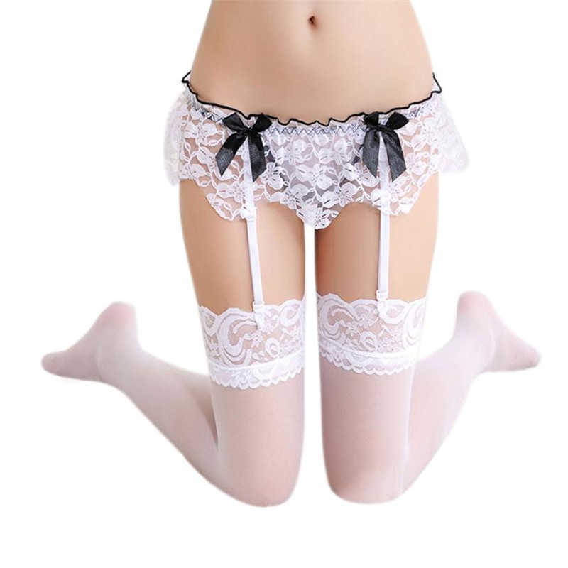 feitong 2018 New Fashion Sexy Lace Garter Belt Lingerie Stocking G-string Underwear Women Lace Sexy body Garters