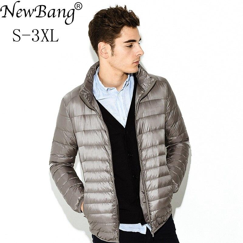 Newbang Brand Down Coat Male Ultra Light Down Jacket Men