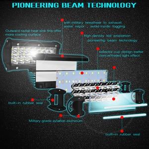 Image 3 - FÜHRTE Arbeit Licht Bar 7/15 zoll 72W 120W 300W LED Bar 6000K 7200LM 12000LM 30000LM 12V Für Jeep Off road SUV ATV Lkw Boot Auto 4x4