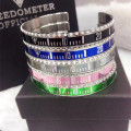 Speedometer stainless steel silver cuff decals marine bangle bracelet