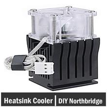 5 Pieces Heatsinks Cooler Fan Aluminum Heatsink DIY Northbridge Golden Black Heat sinks Cooling comes with 40x40x20mm