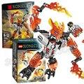 63 шт. Бела Бионикл Hero Защитник Огонь Модель Строительные Блоки Действий DIY Кирпичи Игрушки Совместимость С Lego