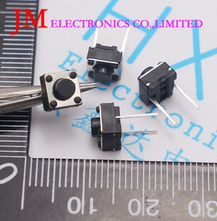 1000pcs 6x6x5mm 2 pin DIP Tactile Push Button Switch 6*6*5mm Micro Switch