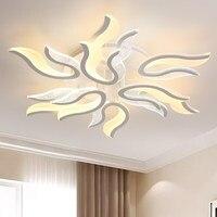 Creative LED Acrylic Ceiling Lights Flame Shape Design Lighting Fixture for Livingroom Restaurant Studyroom Indoor Eye Protect