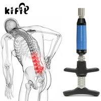 KIFIT Professional портативный хиропрактика Регулируемый инструмент позвоночника назад активатор инструмент 6 уровней здоровье и гигиена массажны