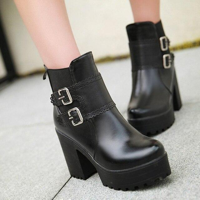 Negro De Tamaño Color Par Plataforma 0dskhnj Zapatos 43 1 Botas wSCXFq