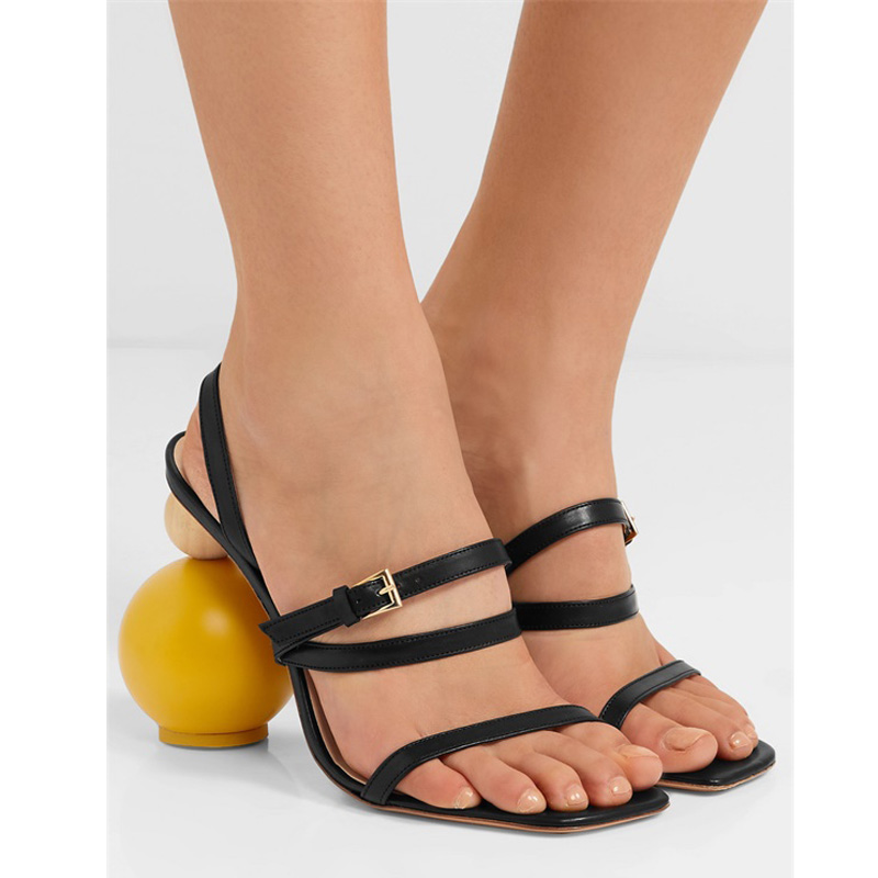 New Sexy Geometric Block heel Sandals Women Black peep toe Strange High heels Narrow Band Gladiator Sandals Summer Shoes WomenNew Sexy Geometric Block heel Sandals Women Black peep toe Strange High heels Narrow Band Gladiator Sandals Summer Shoes Women