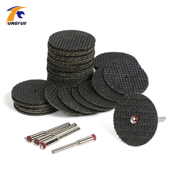 Tungfull Tool Cutting Disc 50pcs DIY Woodworking Dremel Style Accessories Electric Power Tools Mini Drill Cut off Wheel 1.25 tungfull dremel accessories for rotary tools cutting disc for grinders fiberglass reinforced cut off wheel disc dremel tool