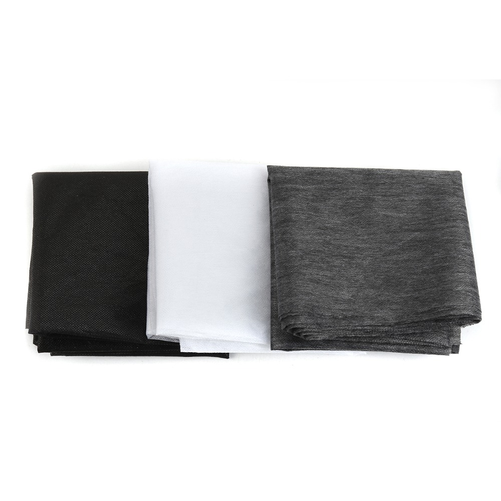 100 cm 25g/45g White Grey Black Non-woven Fabric Interlinings Iron On Sewing Patchwork Single-sided Adhesive Linings DIY 1 PC