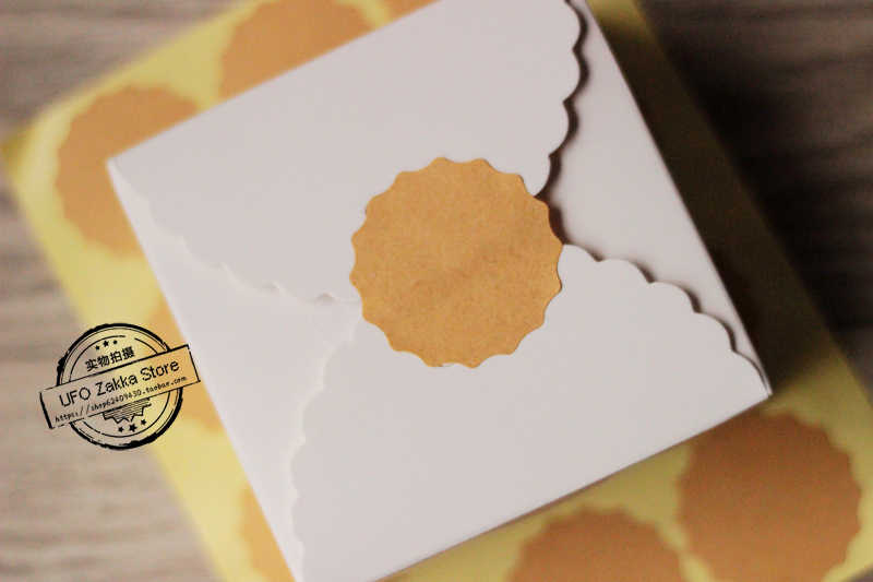 420 шт. Бесплатная доставка Бланк Крафт Браун стикер форма цветка стикер/подарок наклейка крафт-бумага клейкая продвижение уплотнения стикер