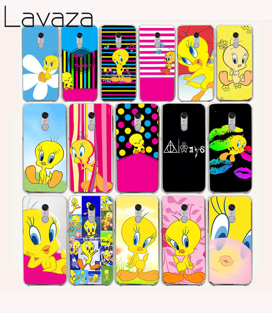 Lavaza 36O new cute Tweety lovely Hard Case for Xiaomi Redmi note 4 4X 5a 5