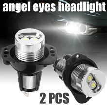 Mayitr New 1 Pair 10W 12V Angel Eyes LED Headlight Halo Ring Light Super Bright Bulb For BMW E90 E91 3 Series