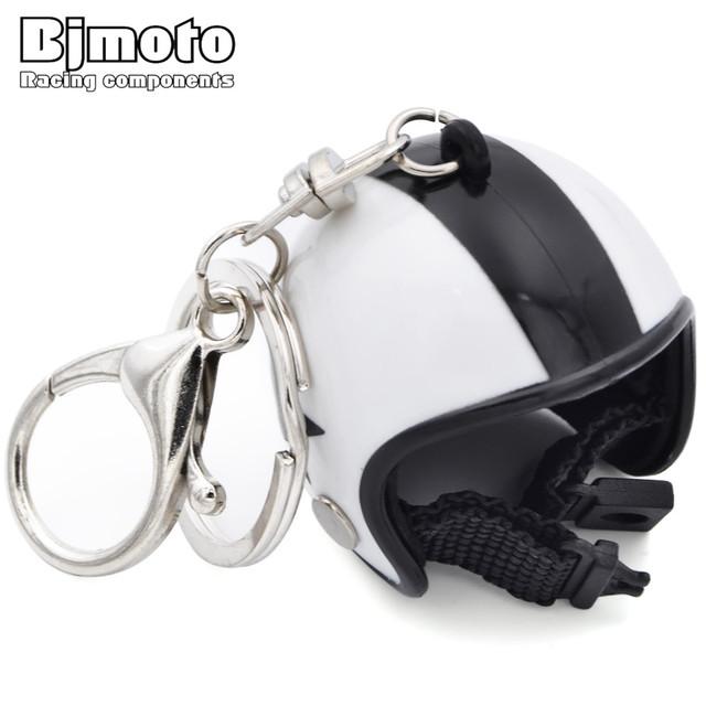 BJMOTO Mini Sport Motorcycle Helmet Pendant Keychain Unisex Keyring Key Chain Ring Finder Accessories Knight Gifts