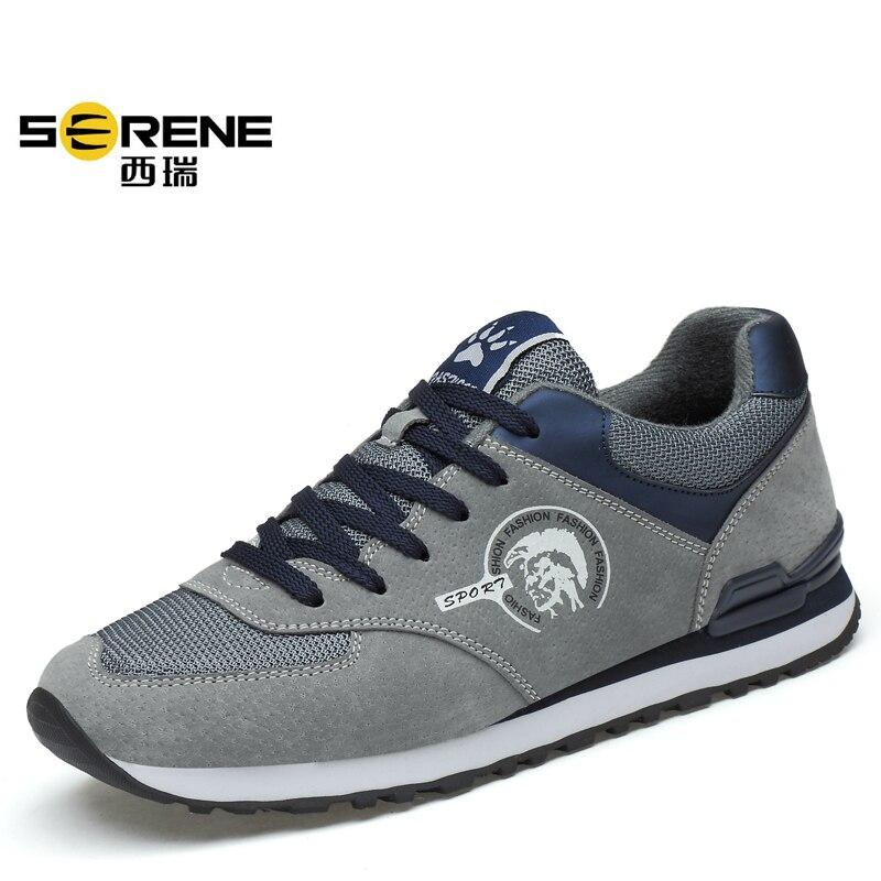 Sneakers gray O Respirável Sapatos Herren Masculino Outono Primavera Tênis Homens Casuais khaki Para deslizamento Da Schuhe Dark Masculinos blue Preguiçosos 2019 Sexo Não Moda n8qwxZ84BO