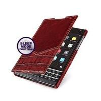Luxury Business Ständer Buch Flip Abdeckung Aus Echtem Leder Fällen für Blackberry-passport-q30 + Volle Track + geschenk