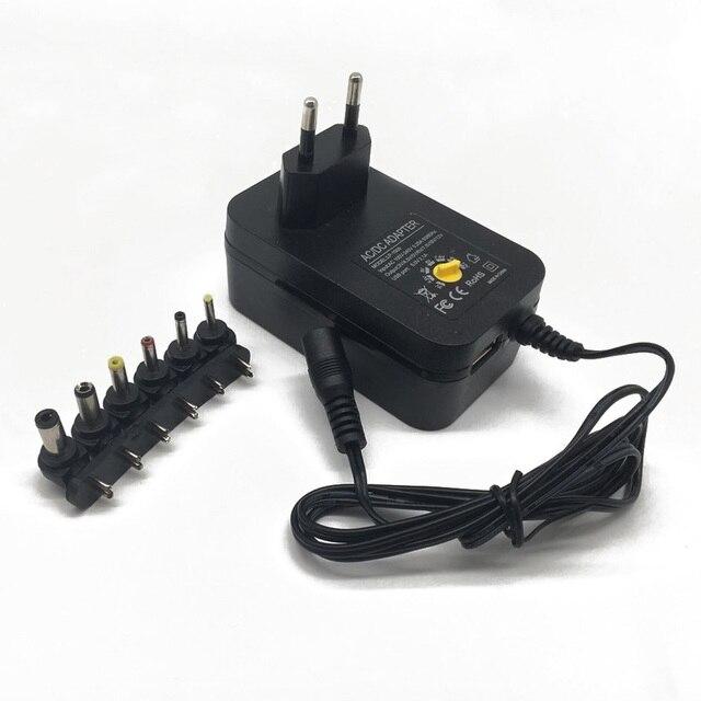 3 v 4.5 v 5 v 6 v 7.5 v 9 v 12 v 2A 2.5A ac dc アダプター調節可能な電源アダプタユニバーサル充電器 led ライトストリップラメ